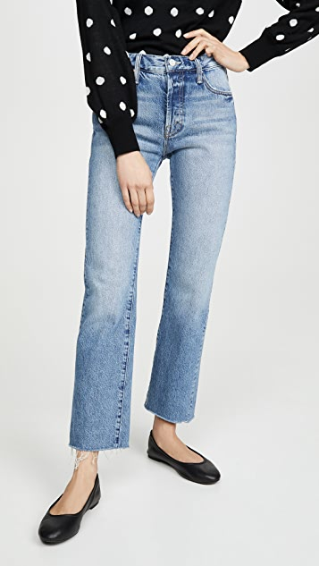 MOTHER The Scrapper Cuff Ankle Fray Jeans