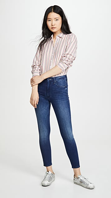 MOTHER High-Waisted Looker Ankle Jeans