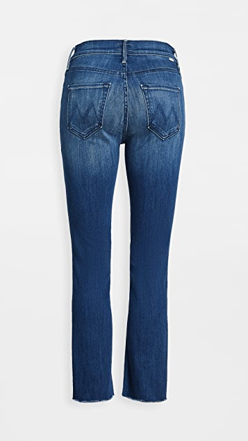 MOTHER The Mid Rise Dazzler Crop Fray Jeans