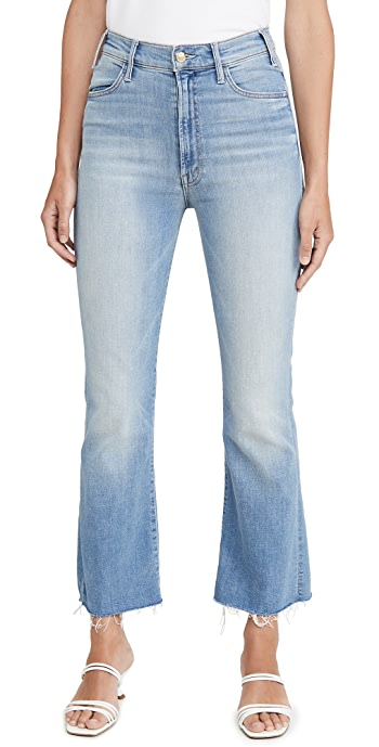 MOTHER The Hustler Ankle Fray Jeans - Shaken Not Stirred