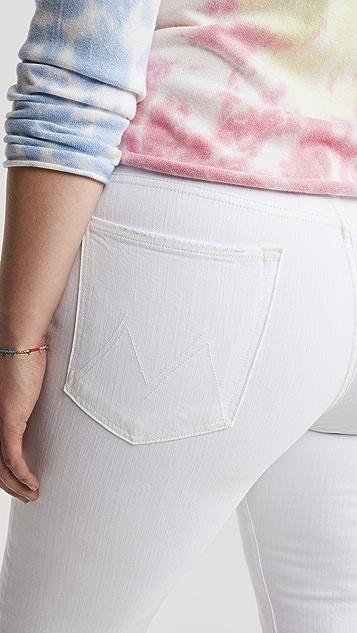 MOTHER Укороченные прямые джинсы Tomcat с высокой талией