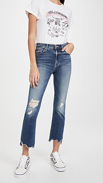 MOTHER The Insider Crop Step Chew Jeans