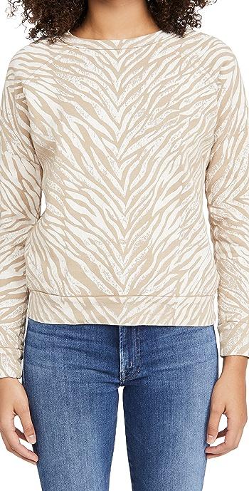 MOTHER The Hugger Sweatshirt - White Stripes