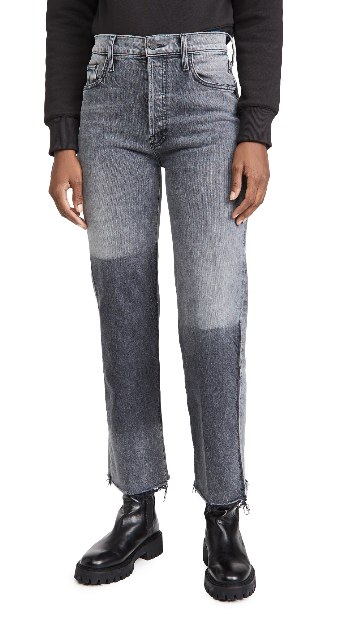 MOTHER MOTHER Superior The Rambler Ankle Fray Jeans