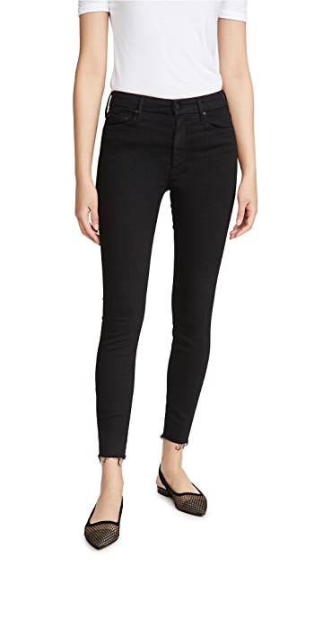 MOTHER Looker Ankle Fray Skinny Jeans - Not Guilty