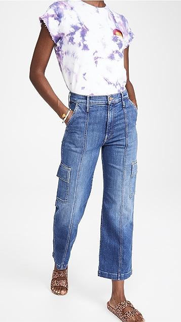 MOTHER The Rambler 九分工装牛仔裤