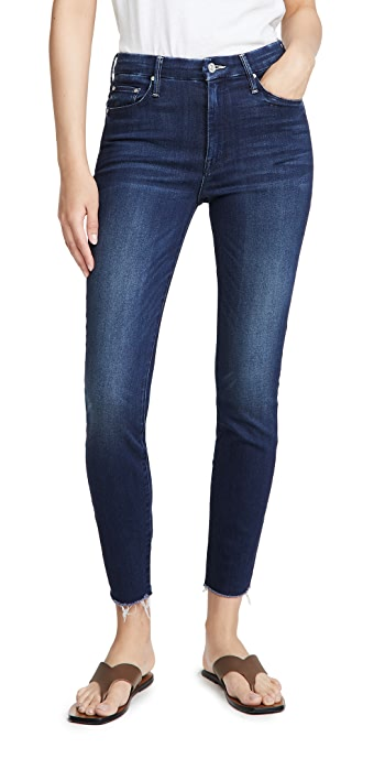 MOTHER High Waisted Looker Ankle Fray Jeans - Tongue And Chic