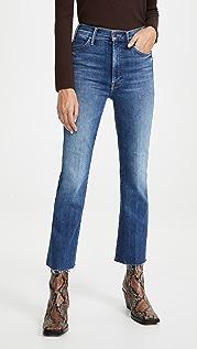 MOTHER Hustler Ankle Fray Jeans