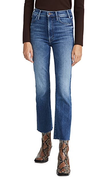 MOTHER Hustler Ankle Fray Jeans