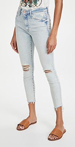 MOTHER - The Stunner Zip Ankle Step Fray Jeans