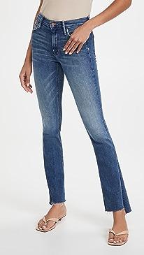 마더 진 청바지 MOTHER The Runaway Step Fray Jeans,Leaps And Bounds