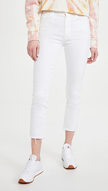 MOTHER High Waisted Rascal Crop Fray Jeans