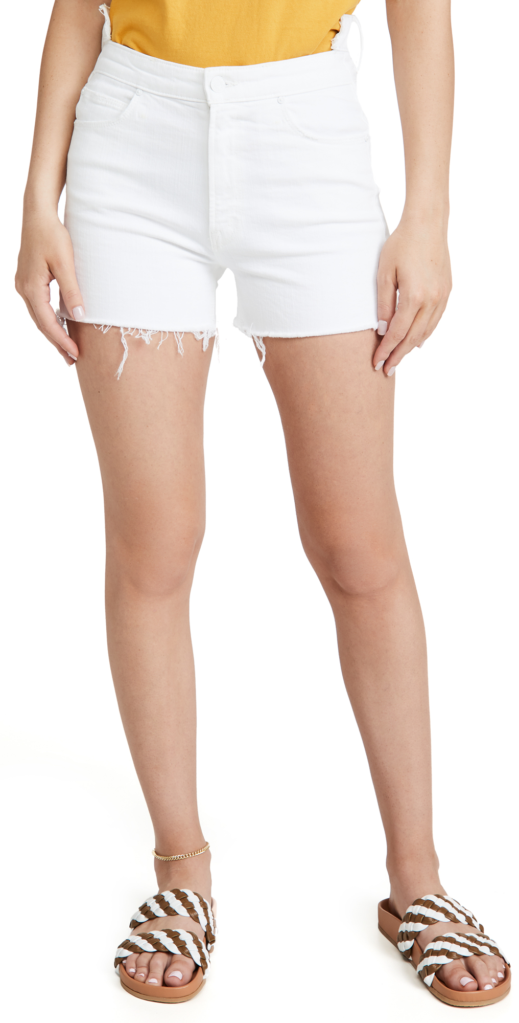 MOTHER The Dazzler Shift Fray Shorts