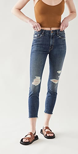 MOTHER - High Waisted Looker Ankle Fray Jeans