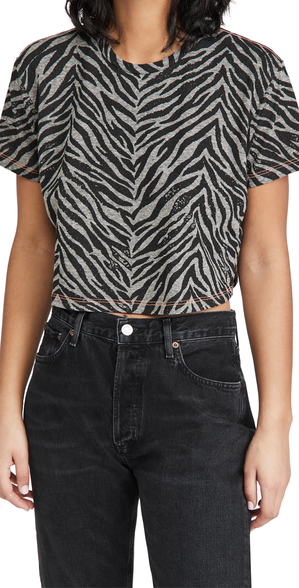 MOTHER The Short Sleeve Slouch Cropped Tee