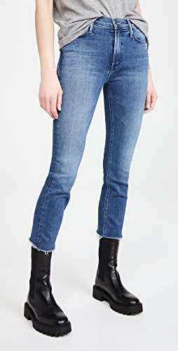 MOTHER - Mid Rise Dazzler Crop Fray Jeans