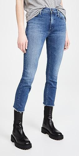 MOTHER - Dazzler 磨边中腰中长牛仔裤
