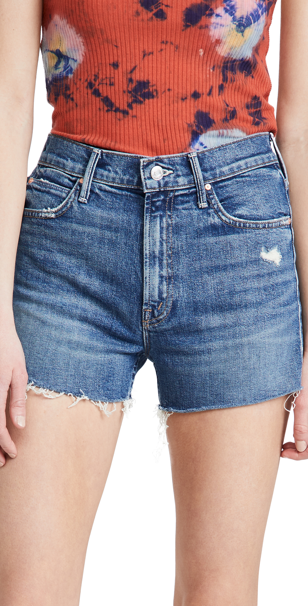 Mother Denims THE DUTCHIE FRAYED SHORTS
