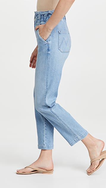 MOTHER The Yoyo Ruffle Greaser Ankle Jeans