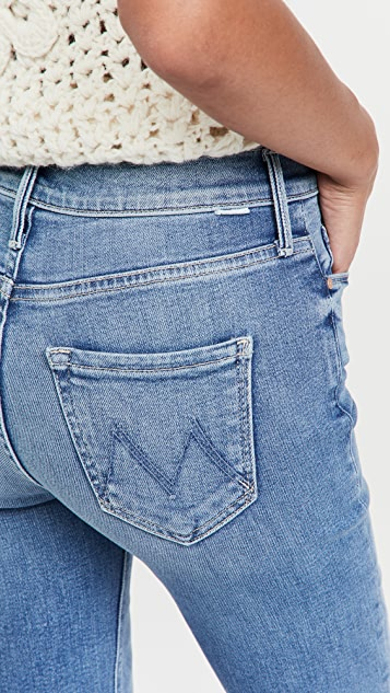 MOTHER Mid Rise Dazzler Ankle Fray Jeans