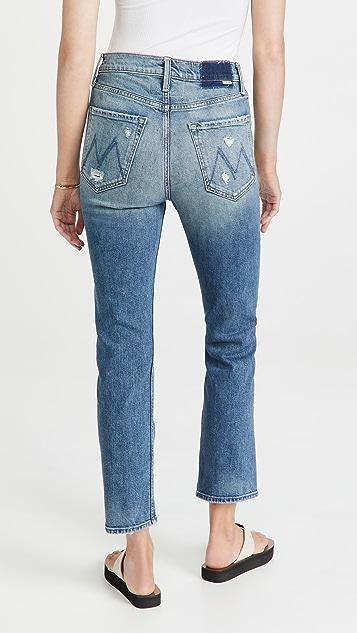 MOTHER 高腰九分牛仔裤