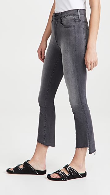 MOTHER The Insider Crop Step Frayed Jeans