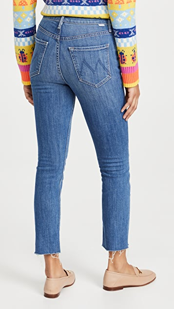 MOTHER The Pixie Dazzler Ankle Fray Jeans