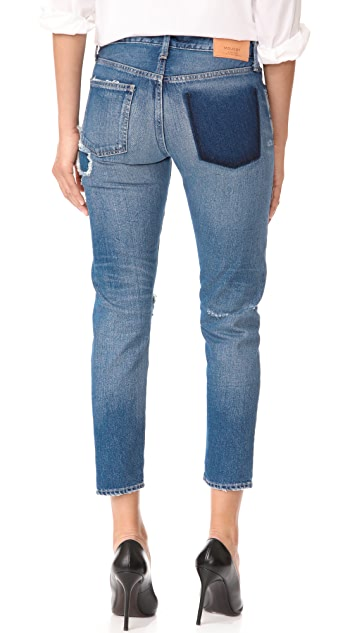 MOUSSY VINTAGE MV Repair Tapered Jeans