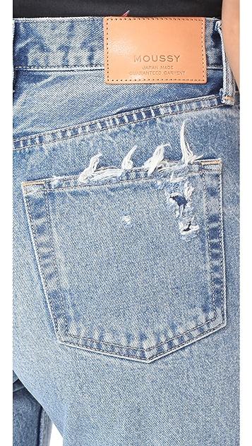 MOUSSY VINTAGE MV Odessa Wide Stright Jeans