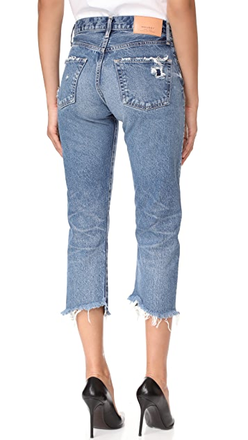 MOUSSY VINTAGE MV Madison Cropped Straight Jeans