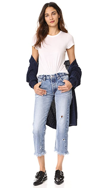 MOUSSY VINTAGE MV Atoka Cropped Straight Jeans