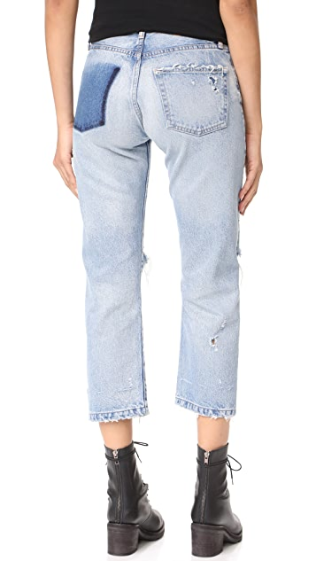 MOUSSY VINTAGE MV Magala Cropped Straight Jeans