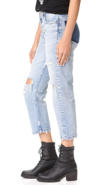 MOUSSY MV Magala Cropped Straight Jeans