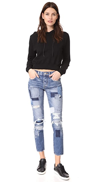 MOUSSY VINTAGE MV Laurel Patched Tapered Jeans
