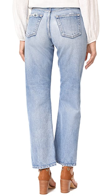 MOUSSY VINTAGE MV Linda Wide Straight Jeans