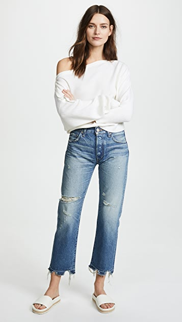 MOUSSY VINTAGE MV Leola Cropped Straight Jeans