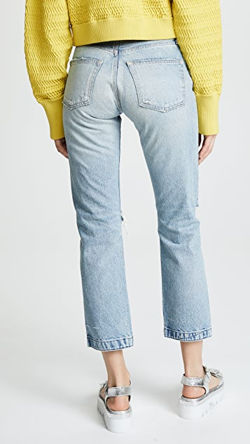 MOUSSY VINTAGE MV Geona Cropped Straight Jeans