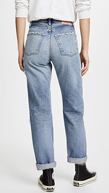 MOUSSY VINTAGE MV Jasper Wide Straight Jeans