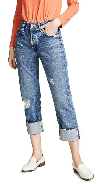 MOUSSY VINTAGE Прямые укороченные джинсы MV Celina
