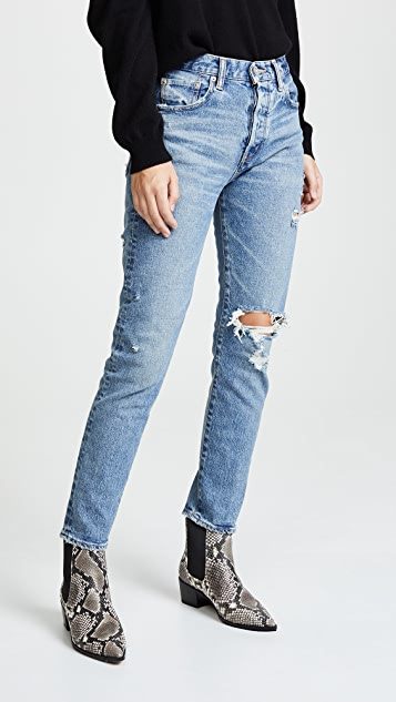 Moussy Vintage Mvs Isabel High Rise Tapered Skinny Jeans