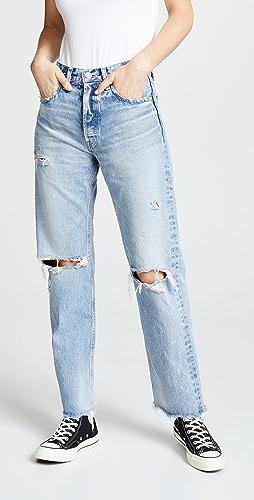 MOUSSY VINTAGE - MV Odessa Wide Straight Jeans