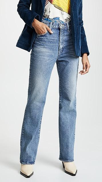 MOUSSY VINTAGE Прямые расклешенные джинсы MV Luna