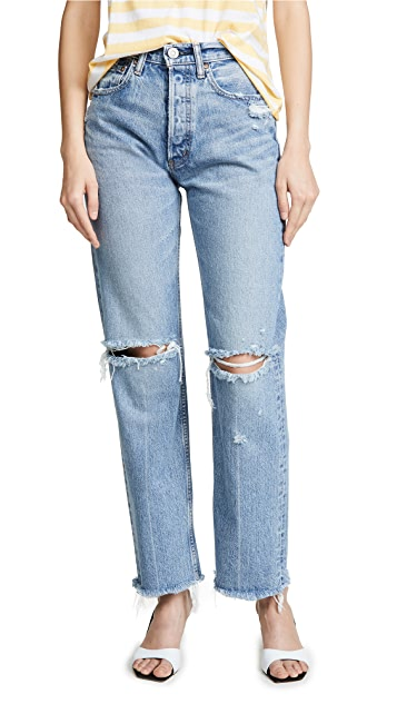 MOUSSY VINTAGE MV Viola Wide Straight Jeans