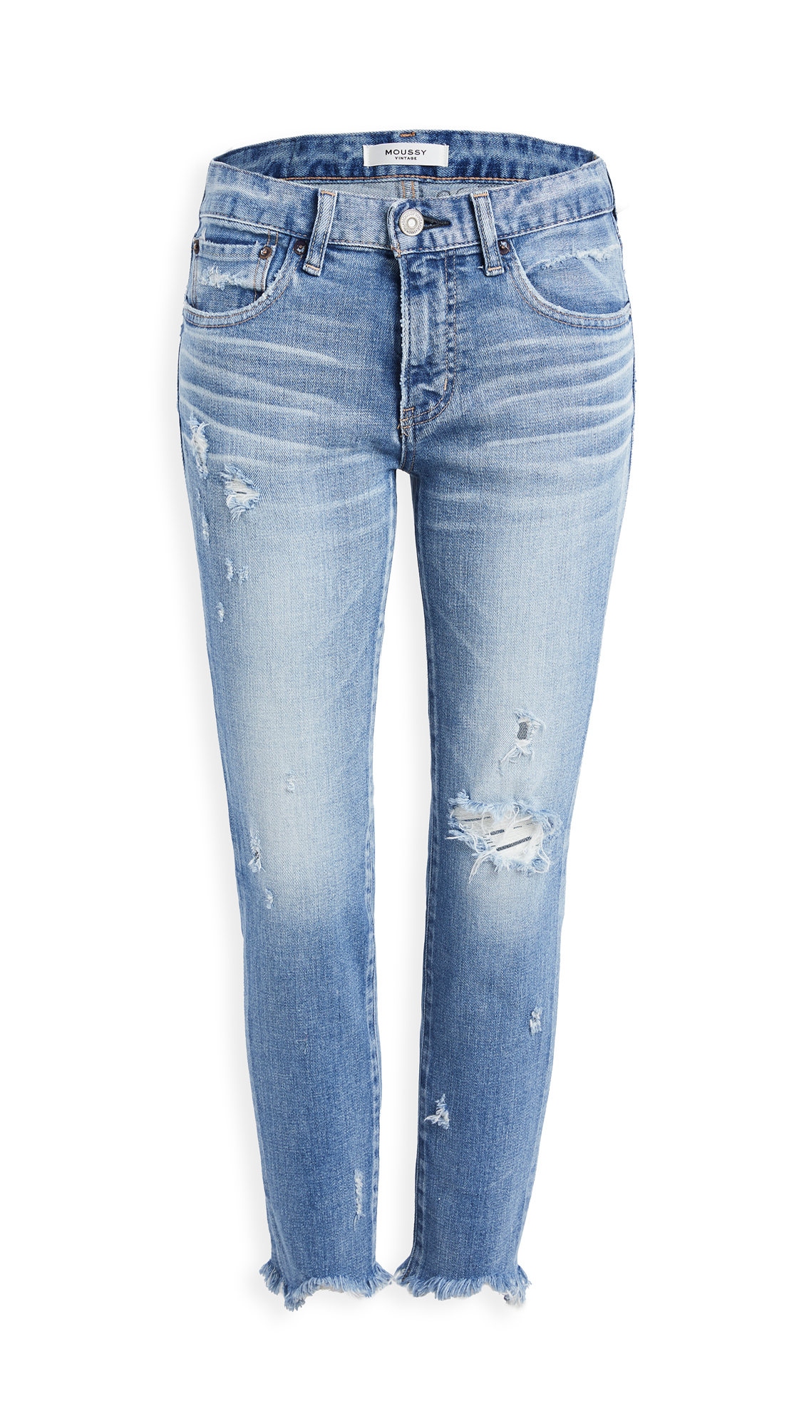 MOUSSY VINTAGE MV Glendele Skinny Jeans Light Blue