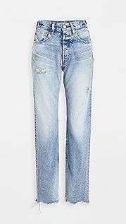 MOUSSY VINTAGE MV Lomita Wide Straight Jeans