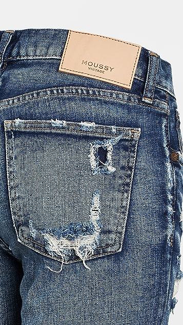 MOUSSY VINTAGE MV Ridgewood Skinny Blue Jeans
