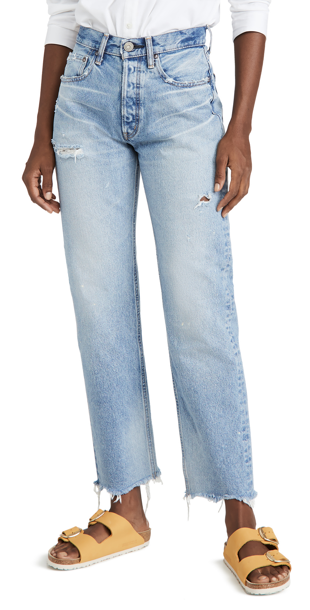 MOUSSY VINTAGE Lomita Wide Straight Jeans