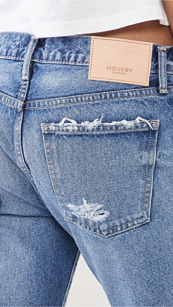 MOUSSY VINTAGE MV Keller 锥形窄脚蓝色牛仔裤