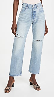 MOUSSY VINTAGE MV Teaneck Wide Straight Jeans