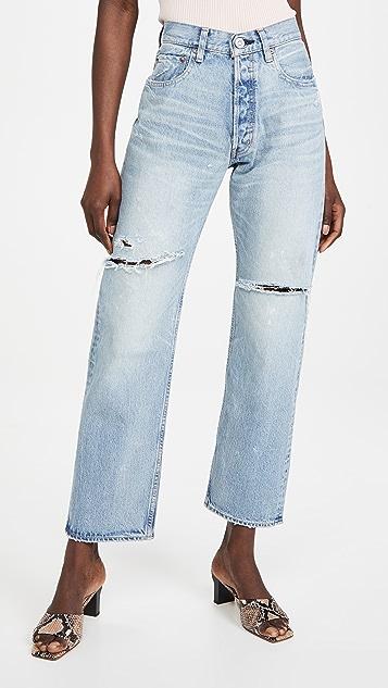 MOUSSY VINTAGE MV Teaneck Wide Straight Jeans